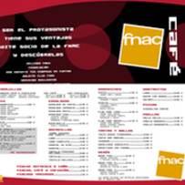 trabajos diseño grafico: carta de menú cafetería FNAC A Coruña