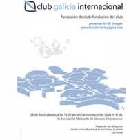 trabajos comunicación visual: Displayer acto fundacional Club Galicia Internacional